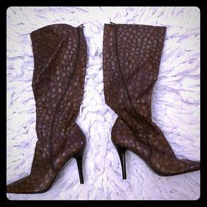 Nice Jessica Simpson Print Knee High Heel Boots